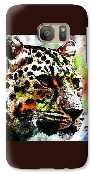 Galaxy Case featuring the painting Leopard - Leopardo by Zedi