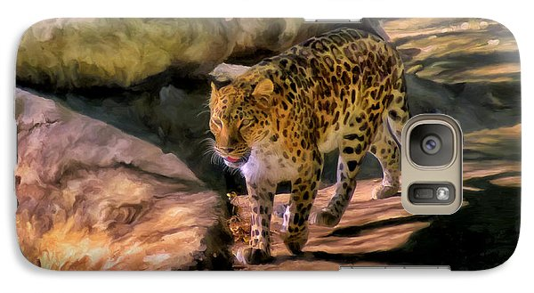 Galaxy Case featuring the painting Leopard by Michael Pickett