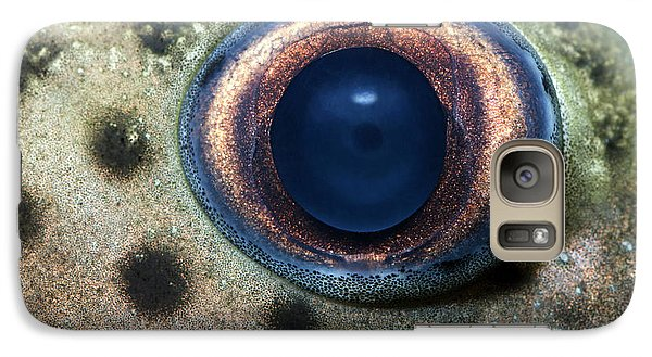 Catfish Galaxy S7 Case - Leopard Sailfin Pleco Eye Abstract by Nigel Downer