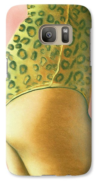 Galaxy Case featuring the pastel Leopard Suit by Mary Ann  Leitch