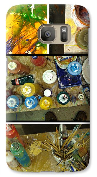 Galaxy Case featuring the photograph Les Couleurs by Sir Josef - Social Critic - ART