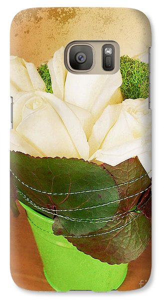 Galaxy Case featuring the photograph Les Fleurs by Maria Janicki