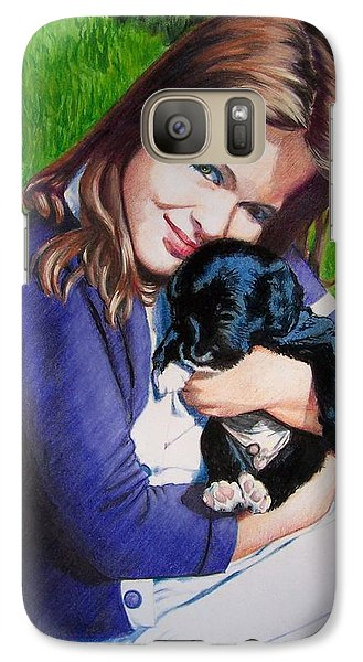 Galaxy Case featuring the mixed media Leslie And Sergeant by Constance Drescher