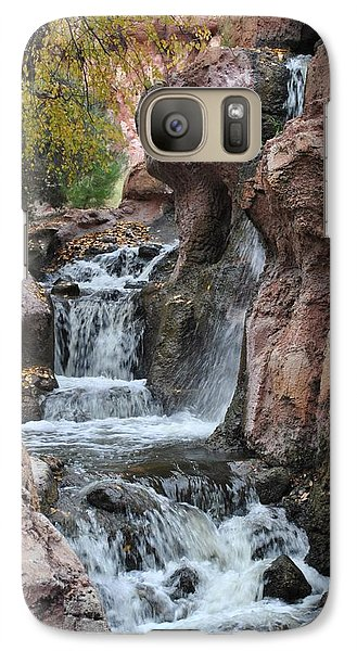 Galaxy Case featuring the photograph Let It Fall by Amanda Eberly-Kudamik