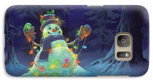 Galaxy Case featuring the painting Let It Glow by Michael Humphries