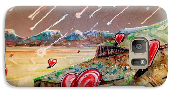 Galaxy Case featuring the painting Let It Rain by Steven Holder