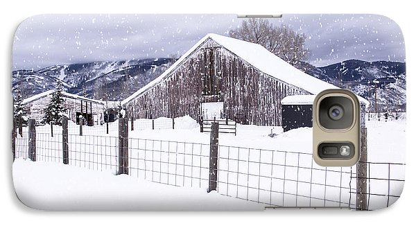 Galaxy Case featuring the photograph Let It Snow by Kristal Kraft