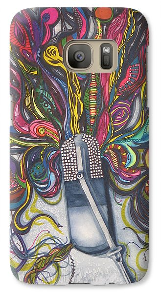 Galaxy Case featuring the painting Let Your Music Flow In Harmony by Chrisann Ellis
