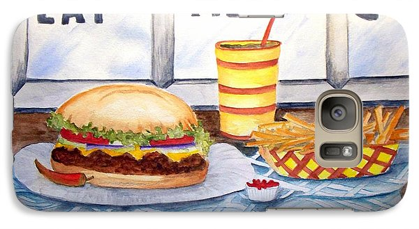 Galaxy Case featuring the painting Let's Eat Here by Carol Grimes