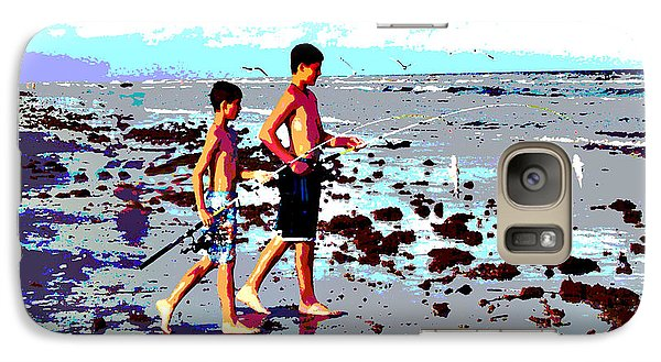 Galaxy Case featuring the photograph Let's Go Fishing by Linda Cox