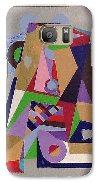 Galaxy Case featuring the painting Letter A by Hang Ho