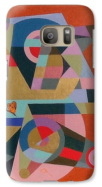Galaxy Case featuring the painting Letter B by Hang Ho