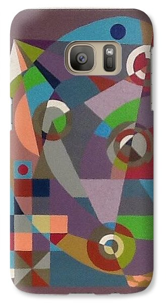 Galaxy Case featuring the drawing Letter C by Hang Ho