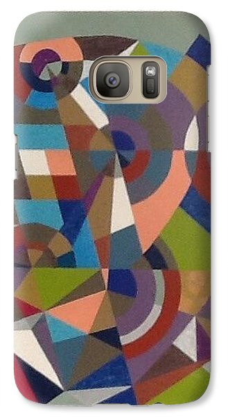 Galaxy Case featuring the drawing Letter D by Hang Ho