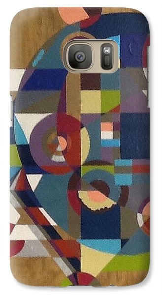Galaxy Case featuring the painting Letter G by Hang Ho