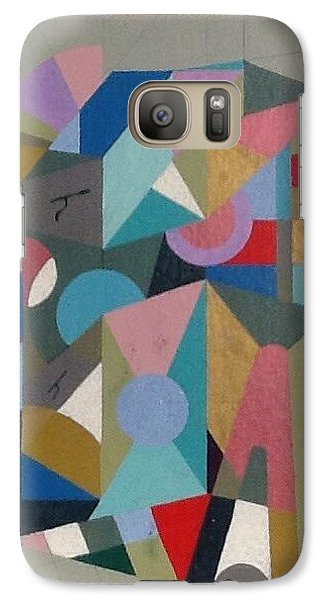 Galaxy Case featuring the painting Letter H by Hang Ho