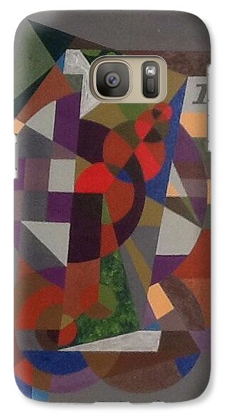 Galaxy Case featuring the painting Letter I by Hang Ho