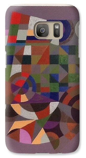 Galaxy Case featuring the painting Letter J by Hang Ho