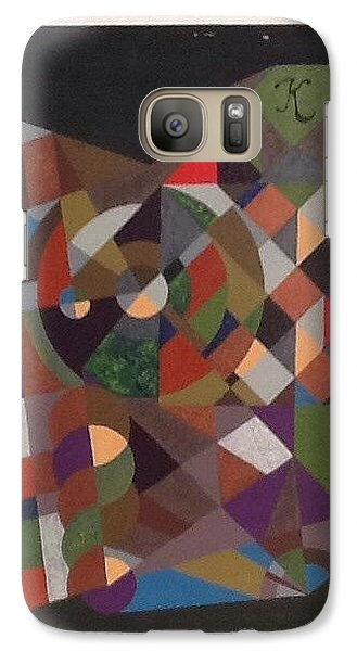 Galaxy Case featuring the painting Letter K by Hang Ho