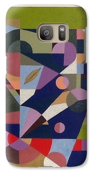 Galaxy Case featuring the painting Letter L by Hang Ho