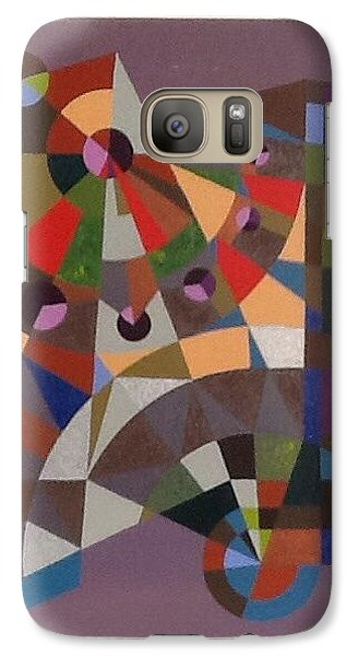 Galaxy Case featuring the painting Letter N by Hang Ho