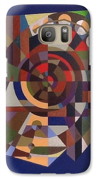 Galaxy Case featuring the painting Letter O by Hang Ho