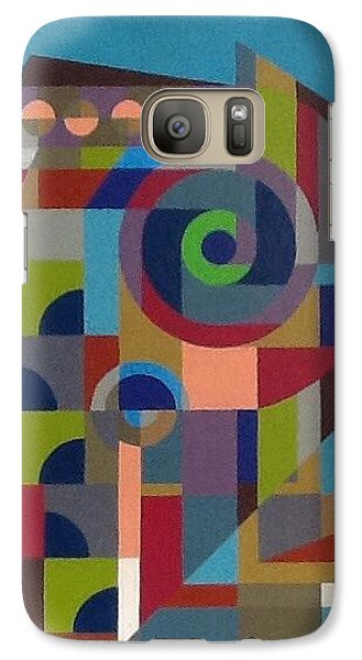 Galaxy Case featuring the painting Letter P by Hang Ho