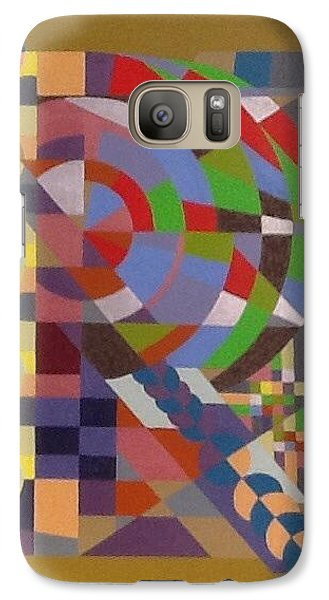 Galaxy Case featuring the painting Letter R by Hang Ho