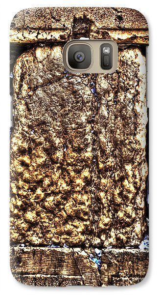 Galaxy Case featuring the photograph Letters In The Wailing Wall by Doc Braham