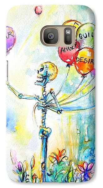 Galaxy Case featuring the painting Letting Go by Heather Calderon