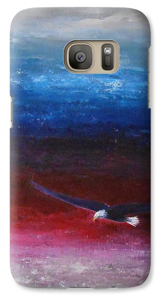 Galaxy Case featuring the painting Letting Go by Jane  See