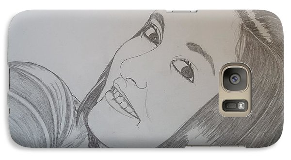 Galaxy Case featuring the drawing Lexi by Justin Moore
