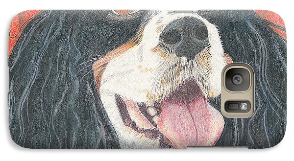 Galaxy Case featuring the drawing Lexie by Arlene Crafton