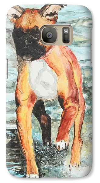 Galaxy Case featuring the painting Leyla by Jeanne Fischer