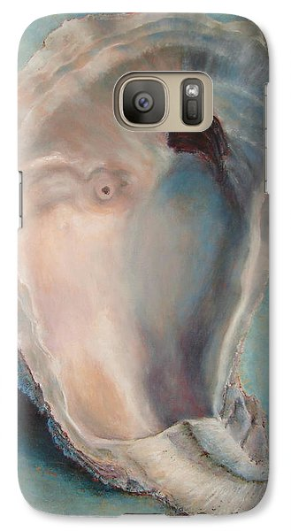 Galaxy Case featuring the painting Libby's Oyster by Pam Talley