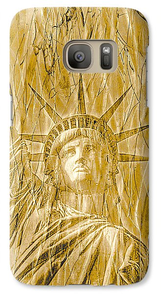 Galaxy Case featuring the photograph Liberty Is Golden by Dyle   Warren