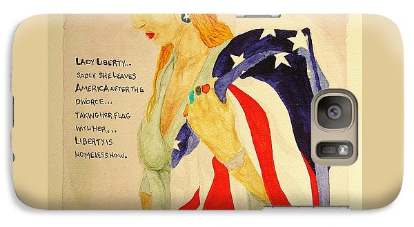 Galaxy Case featuring the painting The Divorce Of Liberty by Rand Swift