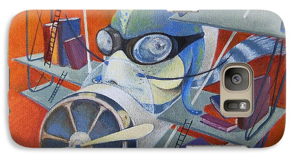 Galaxy Case featuring the painting Librarian Pilot by Marina Gnetetsky