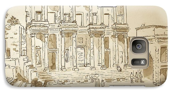 Galaxy Case featuring the painting Library At Ephesus II by Marilyn Zalatan
