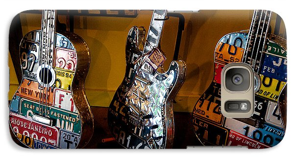 Galaxy Case featuring the photograph License Plate Guitars by Vinnie Oakes