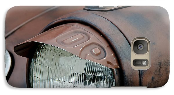 Galaxy Case featuring the photograph License Tag Eyebrow Headlight Cover  by Wilma  Birdwell