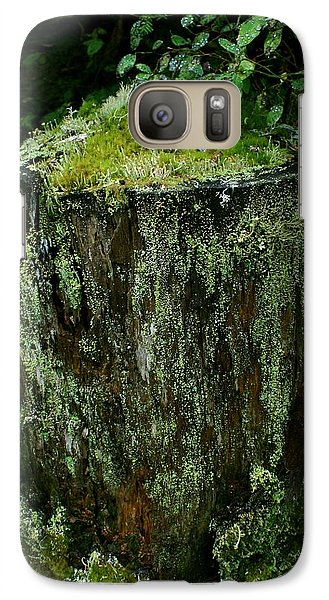 Galaxy Case featuring the photograph Lichen And Moss Covered Stump by Amanda Holmes Tzafrir
