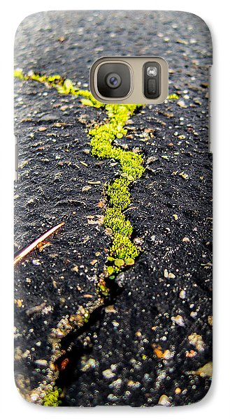 Galaxy Case featuring the photograph Life Between The Cracks by Mike Lee