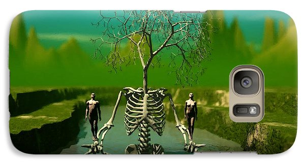 Galaxy Case featuring the digital art Life Death And The River Of Time by John Alexander