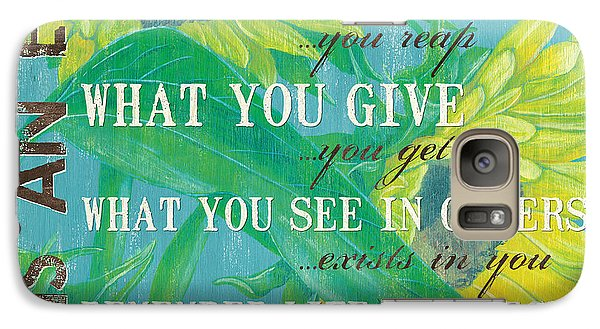 Sunflower Galaxy S7 Case - Life Is An Echo by Debbie DeWitt