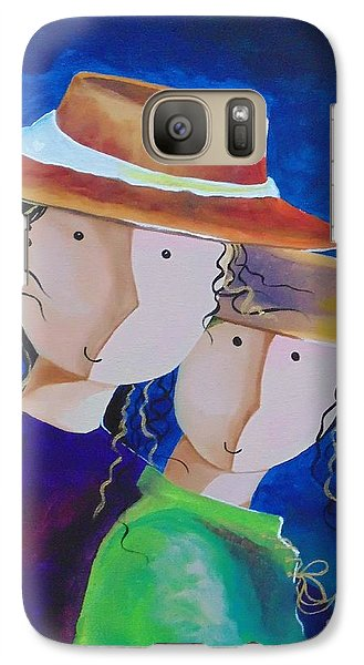 Galaxy Case featuring the painting Life Is Beautiful by Nereida Rodriguez