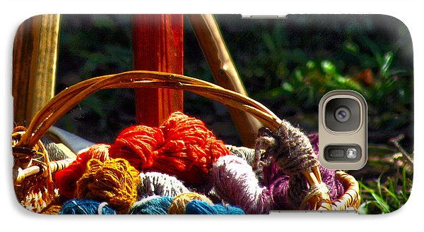 Galaxy Case featuring the photograph Life Is Just A Basket Of Yarn by Lesa Fine