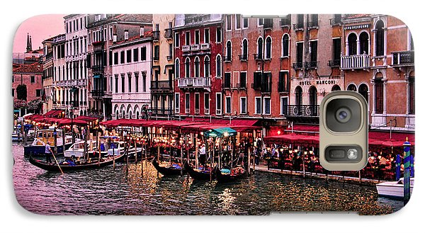 Galaxy Case featuring the photograph Life On The Grand Canal by Oscar Alvarez Jr