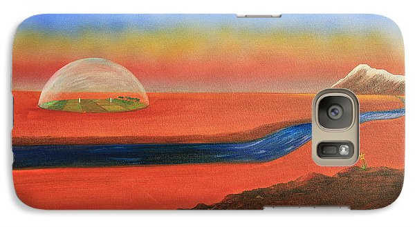 Galaxy Case featuring the painting Life Will Find A Way by Tim Mullaney