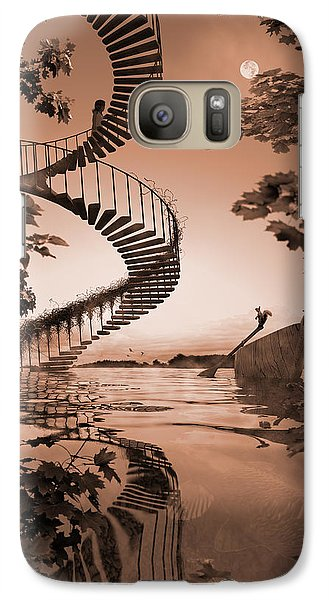 Galaxy Case featuring the digital art Life Without Stairs by Shinji K